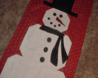 Big Mr Snowman Quilt Top to Finish 22 x 45 1/2 inches