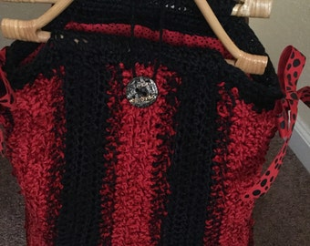 Chenille Hand Knitted  Handbag