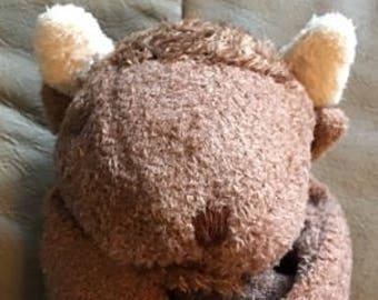 Bison Baby Blankie/Monogrammed Lovie/Angel Dear/Personalized Blankie/Security Blanket/Baby Blankie Gift/Animal Blankie