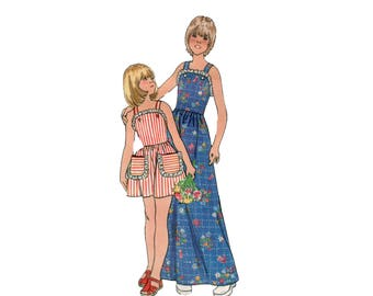 70s Sundress pattern Ruffle Backless Maxi Dress pattern Fit and Flare Dress pattern XS 26-23-27 Butterick 3691