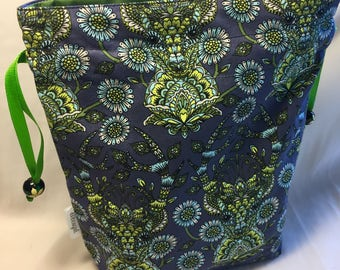 Knitting Crochet Project Bag - Guardian of the Forest