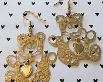 Teddybear Earrings