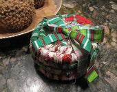 SPECIAL ORDER Reserved  for Karen  COASTER set   of  four Christmas blend