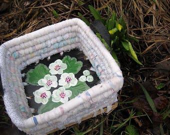 MAYFLOWER  textile art Basket tray box