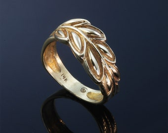 14K Gold Laurel Leaf Ring by Cavallo Fine Jewelry