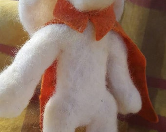 The Rabbit Hero Felted Doll
