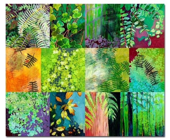 Cascadia Park Study Collage - Fine Art Print by Jenlo