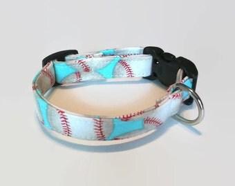 Baseball Softball  Dog Collar Sz. XS S