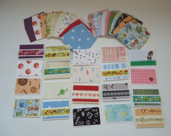 20 mixed mini cards with envelopes, mini notecards, shop thank you cards, mixed lot cards, assorted shop notecards, tiny notecards, lot 4
