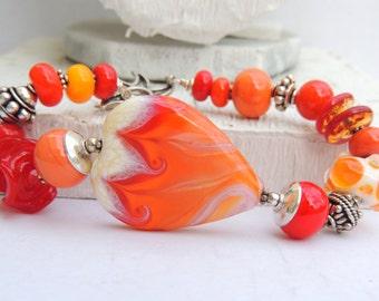 ETERNAL Handmade Lampwork Bead Bracelet