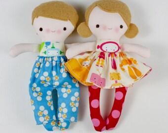 SALE Tiny Twins- George & Margaret PDF Pattern