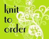 Custom knit womens lingerie