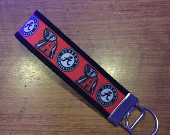 Alabama Crimson Tide Key FOB, Key Chain, Key Holder, KeyFob Wristlet Keychain, Accessories, House keys