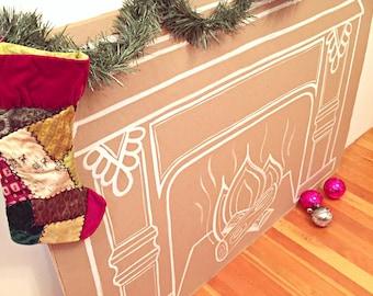 Paper Fireplace Wall Art Decor - FANCY
