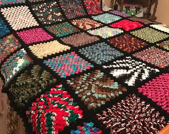 Queen/King size Granny Square Afghan