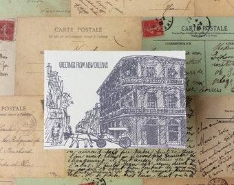 New Orleans - five letterpress postcards