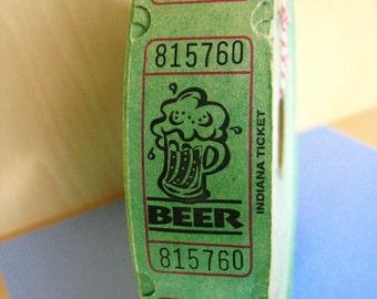 Vintage Beer Tickets Script in Large Roll