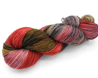 Fred Watercolor Stripes-- Dyed to Order Self Striping Hand Dyed Targhee Sock Yarn