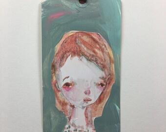 Jasmine art tag - original 3x6
