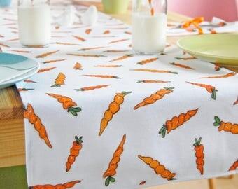 Carrot Fabric Table Runner - Easter Tableware - Luxury Homeware - Easter Homeware - Easter Tablecloth - Christmas Tableware