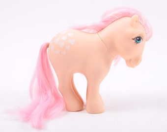 My Little Pony Peachy Vintage G1, Flaw, Peach Body, Pink Hair, Hearts Symbol ~ Pink Room ~ 161206