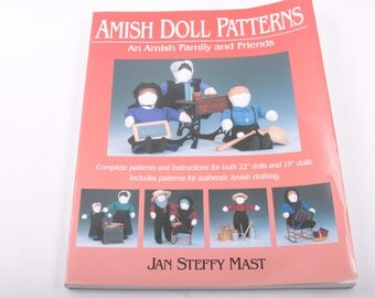 Amish Doll Patterns, Family and Friends, 22, 15, Amish Doll Clothing, Illustrated, Vintage, Children's Book ~ The Pink Room ~ 160912