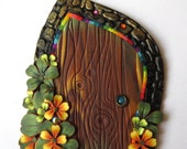 Leprechaun Door Pixie Portal Polymer Clay Miniature Door for Fairy Gardens and Home