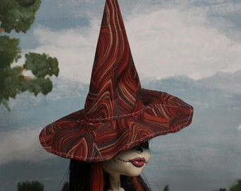 Woodsmoke Witch Hat for Slim Monster and Fashion Dolls