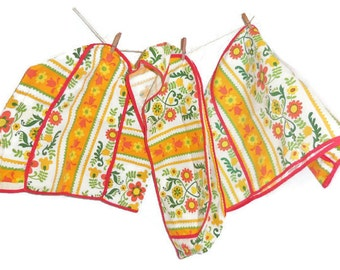 1970's Boho Kitchen Appliance Cover Set | Three Piece Cover Set for Appliances