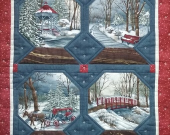 Pattern Only: Snow Globe Wall Quilt PDF  Suitable for beginners using Holly Taylor Town Square from Moda