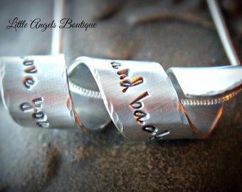 Wrap secret message necklace pendant wedding bridesmaid personalized necklace and chain