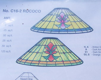 Stained Glass Lamp Pattern Worden C16-2 Rococo Cone for Full Form Mold