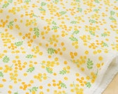 Japanese Fabric double gauze mimosa flowers - yellow - 50cm