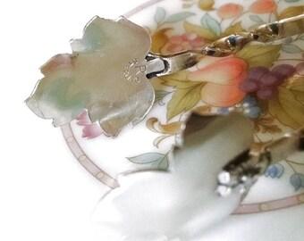 Sale: Vintage Raimond Maple Leaf Sugar Tongs