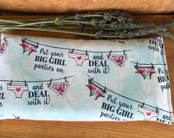 Lavender Eye Pillow - Lavender Flax Seed Pillow - Herbal Pillow - Mother's Day Gift - New Mom Gift - Aromatherapy Heat Pad - Eye Pillow