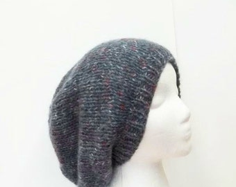 Hand knitted oversized beanie hat   5197