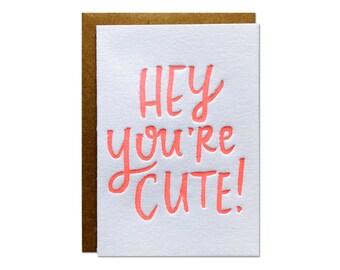 You're Cute Enclosure Card