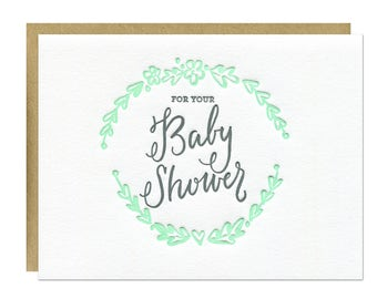 Baby Shower Letterpress Card