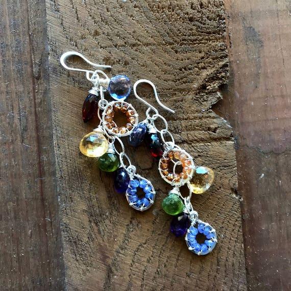 Gemstone Chandelier Earrings.