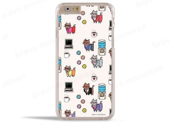 Cat iPhone 7 Case Office Gift Cute Cats iPhone 6s Case Samsung Galaxy S7 Case Galaxy S6 Note 5 Case
