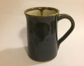 Tall hand thrown ceramic mug