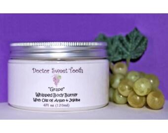Grape Whipped Body Butter with Argan & Jojoba Oil