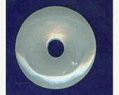 SNOW SALE 50mm White Agate Gemstone PI Donut Pendant Focal Bead Doughnut 768B