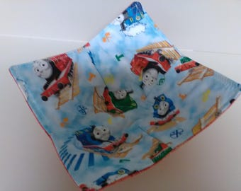 Microwave Bowl Cozy Thomas the Train Kids Cartoon Country Kitchen Handmade Heating Trivet Pot Holder Hot Pad Quilted Cloth Bowl Cereal
