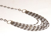 Antique Copper Chain Multistrand Necklace