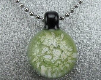 ON SALE Handmade Lampwork Glass Focal Frit Pendant by Jason Powers SRA