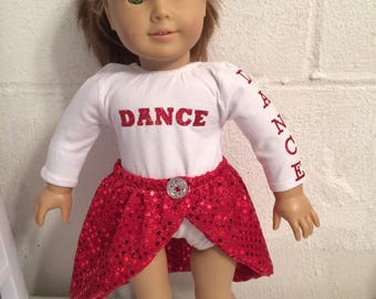 """American girl size dancing outfit for your 18""""doll"""
