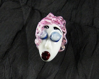 The Pretty Lady...Handmade Lampwork Focal Head Bead...Ladies of the Flame... SRA