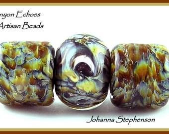 BIG HOLE Harvest Moon Lampwork Bead Set