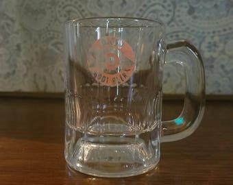 SALE Vintage 1950's A&W Rootbeer Mug, Orange Target Logo Small Glass, Rare